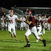 Fitchburg's Mike Nowd runs it in for a touchdown during the game against North Middlesex on Friday, September 29, 2017. SENTINEL & ENTERPRISE / Ashley Green