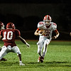 North Middlesex's Josh LeBlanc runs the ball during the game against Fitchburg on Friday, September 29, 2017. SENTINEL & ENTERPRISE / Ashley Green