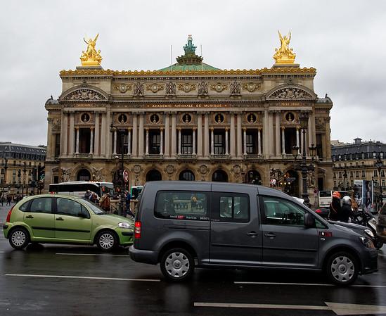 First view of the Palais Garnier, the Paris Opera House