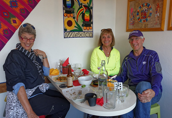 Great Mexican food at Coyote - Suzanne, Linda and Jerry