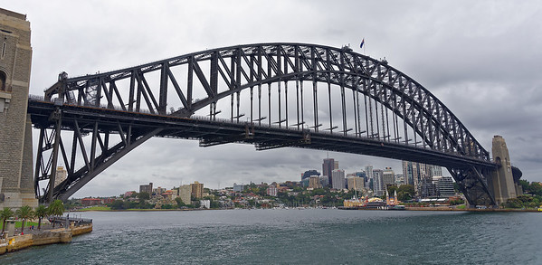 The harbor bridge - there are walking tours . . . on the arches!