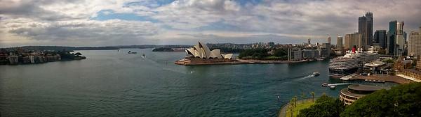 Sydney Opera House from the Harbor Bridge