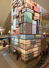 LAX, giant movie/photo display around elevator