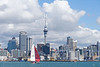 Sailboat and downtown Auckland