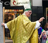 A slightly inibriated St. Patrick blessing the masses