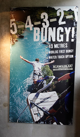A.J. Hacket Bungy Jump, with a water touch