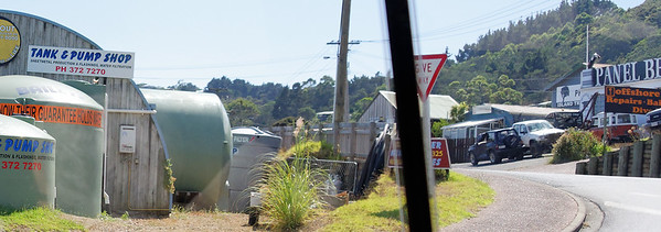 Very dry island - water is brought to homes and stored in tanks