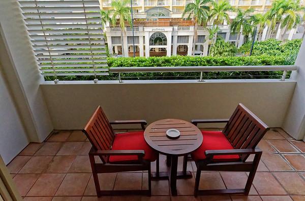 DAY 4:  Kuranda Railway, Skyway;  Our patio at the Pullman Hotel, Cairns AU