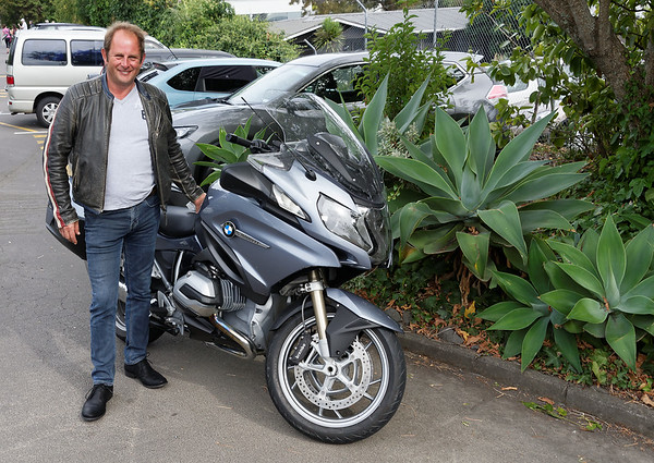 Proud owner of a new BMW bike - about $40K NZ$