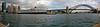 Queen Elizabeth and Sydney Harbor Bridge from the Opera House