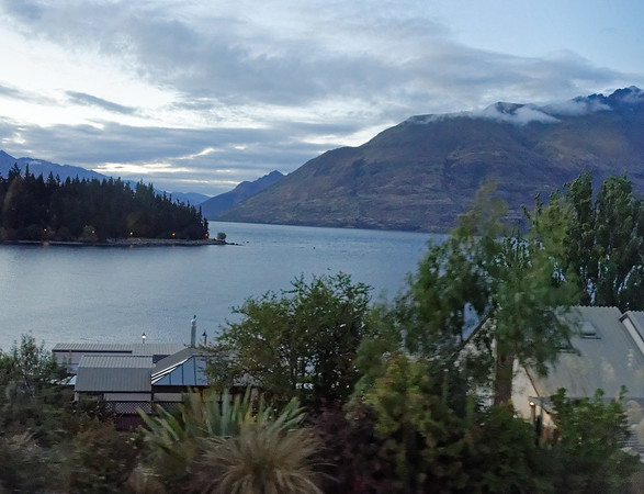 DAY 16:  Milford Sound, flight, dinner at Coyote - leaving Queenstown, view of Lake Wakatipu