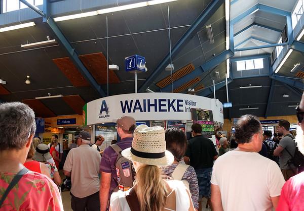 Entering Waiheke Island