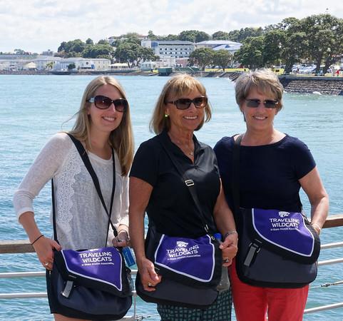 Traveling Wildcats; Megan, Linda, Barb in Devonport