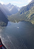 Flight from Milford Sound to Queenstown New Zealand