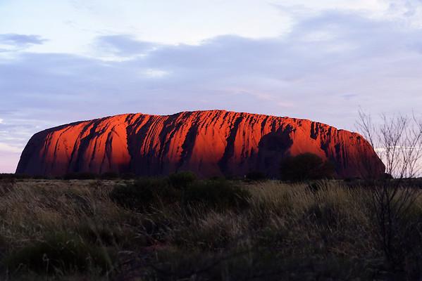 The Uluru sunset sequence 6