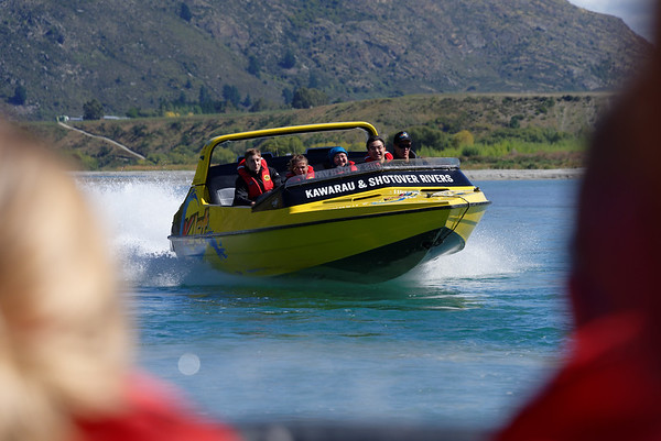 One of the KJets coming in - two 410 hp inboards driving water jets