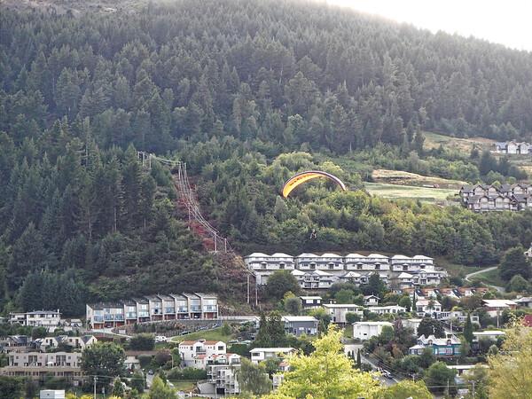 DAY 17:  Queenstown NZ, zipline, jet boat, dinner at Walter Peak; paragliding