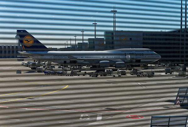 DAY 1:  Frankfurt Germany airport, Boeing 747-800