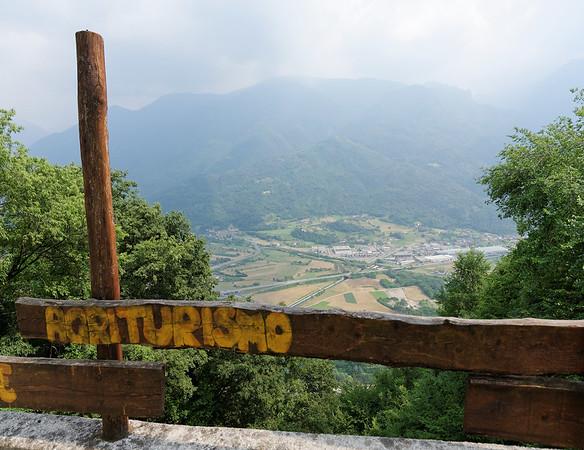 La Sognata (the dream), haze obscuring the landscape