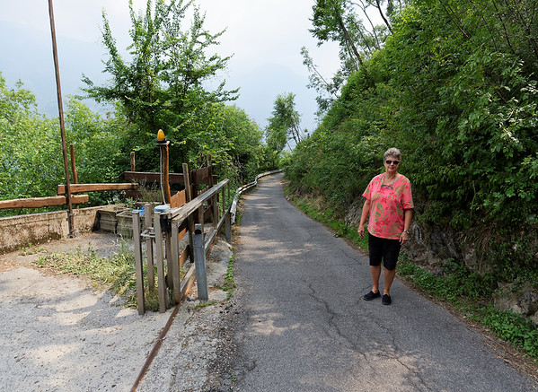 La Sognata, the OMG road - don't try it with an underpowered car with auto stop engaged