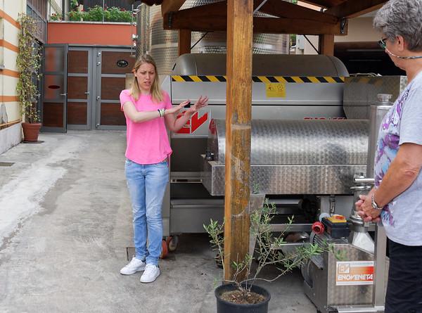 Marano di Valpolicella; Sylvia, daughter of owner Giuseppe