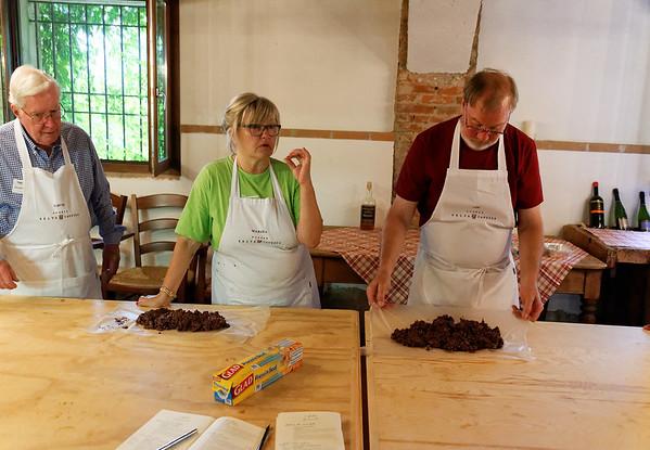 Borgo San Donino; Roger and Jim's versions of the chocolate salami