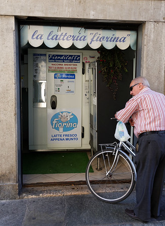 Mantua, milk vending machine