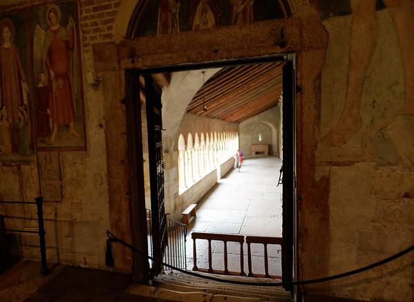 Verona St. Zeno;  view from interior