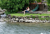 Valeggio and the Mincio river; enjoying a break after a hard morning of feeding the ducks