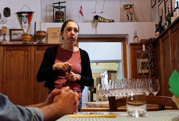 Marano, Azienda Agricola de Tarczal; Ellena, one of the two sisters, presided over the tasting