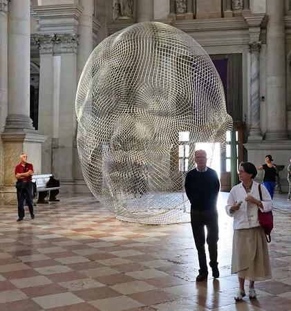 Venice; San Giorgio Maggiore, wire sculpture