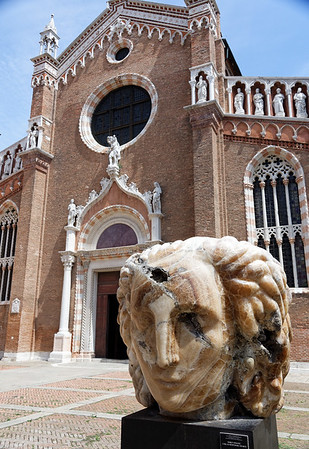 Venice; Madonna dell'Orto church, Tintoretto's church where bad (and it's really bad) statue of Mary is located - no photos