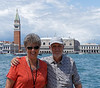Venice; Richard and Suzanne, San Giorgio Maggiore, with St. Mark's plaza in the background
