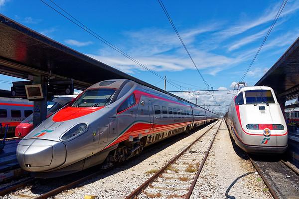 Venice; fast trains, the Flecciargento and Flecciabianca (silver and white arrows)