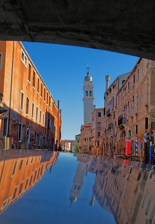 Venice; leaning Church di San Giorgio dei Greci