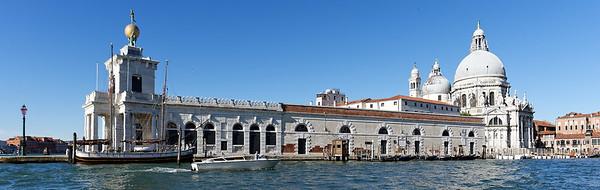 Venice; Punta della Dogana and Santa Maria della Salute