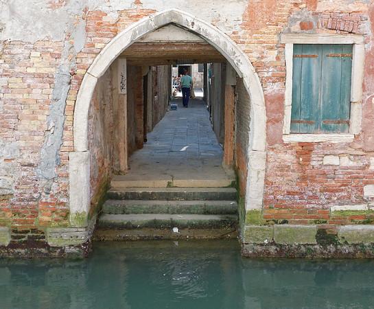 Venice; water entry door