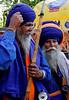 Outside Sikh temple Bangla Sahib where free meals are served, Delhi