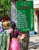 Menu near Gandhi Memorial (10 Rs = 25 cents USD), Delhi
