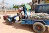 Nepal's version of the irrigation pump/wagon combo we saw in India, Kathmandu Nepal