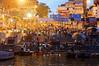 Masses gathering for the ceremony, Varanasi
