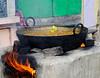 Food cooking, Ganges, Varanasi