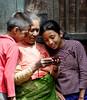 Checking out their photo, Bhaktapur Nepal