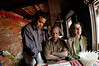 Prabeen, Henri, and Sharon, Palace Restaurant, Durbar Square, Bhaktapur Nepal