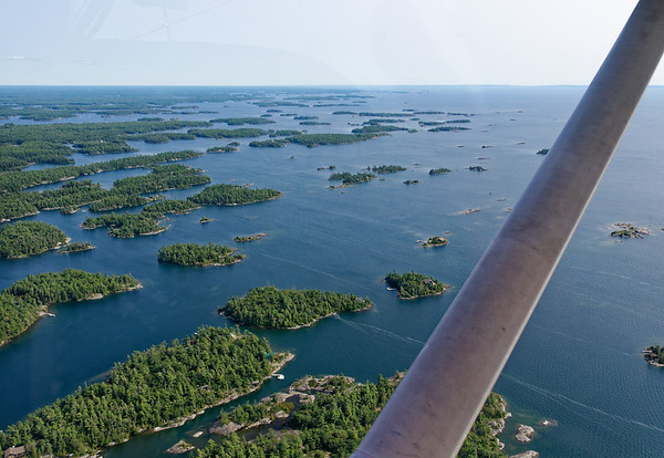 Parry Sound Ontario, some of the 30,000 islands
