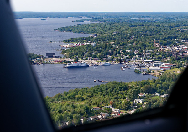 Parry Sound Ontario, getting ready to land