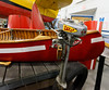 Sault Ste. Marie, Bushplane Museum, wood canoe and outboard motor