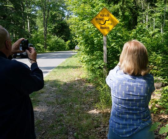 Killbear Park, Snake Brake sign