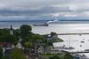 view from below Fort Mackinac