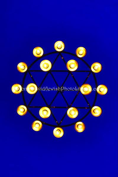 WE 1073  Ceiling light, Trondheim Synagogue  Trondheim, Norway